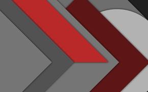 Обои белый, красный, абстракция, серый, геометрия, design, бордовый, material