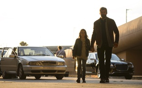 Обои car, cinema, girl, Wolverine, Hugh Jackman, X-Men, Logan, man, Marvel, hero, film, Laura, powerful, strong, ...