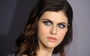 Картинка взгляд, актриса, голубые глаза, Alexandra Daddario