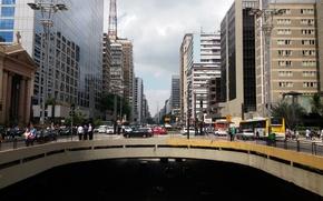 Картинка city, Brazil, Sao Paulo, capital, crowded, daylight, avennue