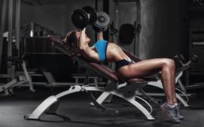 Обои workout, gym, female, fitness