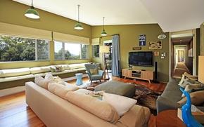 Картинка стиль, комната, вилла, интерьер, гостиная