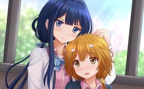 Картинка girl, girls, pretty, asian, manga, japanese, oriental, asiatic, bishojo, Yasaka High School, Aki Adagaki, bluh, …