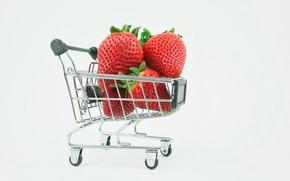 Картинка клубника, ягода, коляска