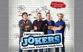 Картинка wall, bricks, funny, joe, impractical jokers, sal, murr