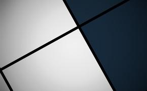 Обои белый, синий, черный, квадраты, геометрия, design, color, material