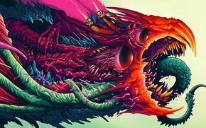Картинка рисунок, урод, монстр, зубы, арт, чудовище, monster, art, csgo, beast, ксго, скин, hyperbeast, Brock Hofer