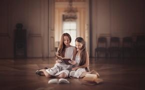 Картинка девочки, книги, palace stories