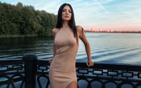 Картинка взгляд, девушка, мост, река, фото, фигура, Dmitry Sn, Кристина Романова, Дмитрий Шульгин