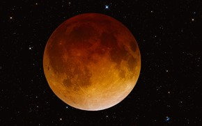 Картинка звезды, планета, Луна