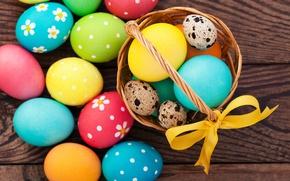 Картинка colorful, Пасха, rainbow, spring, Easter, eggs, Happy, яйца крашеные