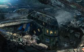 Картинка город, здания, разрушения, катастрофа, Rememberme