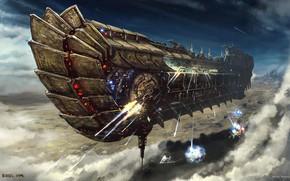 Картинка транспорт, Bulletstorm, Ulysses Spaceship