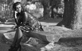 Картинка лицо, парк, отдых, модель, Martina