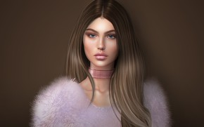 Картинка лицо, фон, волосы, милашка