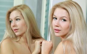 Картинка взгляд, модель, блондинка, Marianna Merkulova, Genevieve Gandi, Christianna