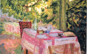 Картинка лето, стол, дерево, Наби интимизм, Боннар Пьер