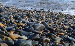 Картинка море, камни, Охотское море