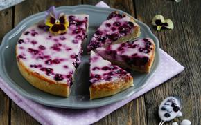 Картинка ягоды, пирог, виола