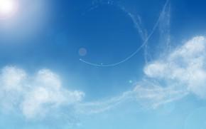 Картинка небо, облака, блики, mrDimkaP