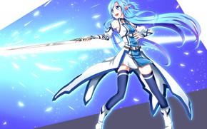 Картинка game, anime, asian, manga, japanese, Sword Art Online, oriental, asiatic, powerful, strong, sugoi, SAO, light …