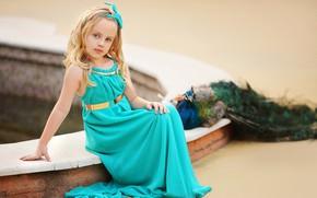 Картинка природа, птица, девочка