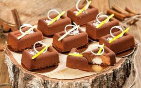Картинка пирожные, декор, какао