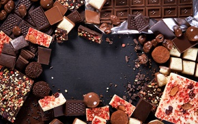 Обои темный, шоколад, nuts, sweet, вкусно, орехи, молочный, chocolate, сладкое, десерт, конфеты, candies, кусочек