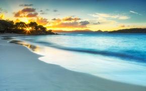 Картинка море, пляж, закат, побережье, Virgin Islands, Виргинские острова