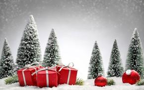 Картинка снег, елка, Рождество, подарки, Новый год, Christmas, Photos, vectors