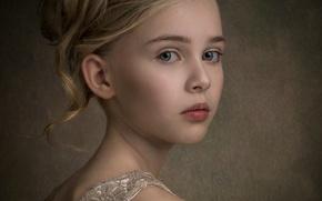 Картинка портрет, девочка, локоны, художественное фото
