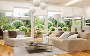 Картинка гостиная, мебель, дизайн