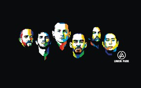 Обои ART, Linkin Park, Mike Shinoda, Chester Bennington, Rob Bourdon, Brad Delson, Joseph Hahn, Dave Farrell
