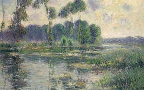 Картинка пейзаж, картина, Гюстав Луазо, Gustave Loiseau, The Banks of the Eure. Saint-Cyr-du-Vaudreuil