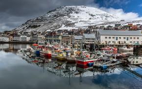 Картинка лодки, Норвегия, Norway, Nordkapp, Honningsvåg