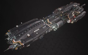 Картинка транспорт, конструкция, аппарат, Fractured Space, TDS Paladin