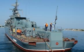 Обои море, корабль, Черное, ВМФ, Севастополь, сторожевой, Пытливый