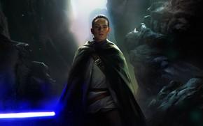 Картинка art, jedi, rey, Star Wars: The Last Jedi