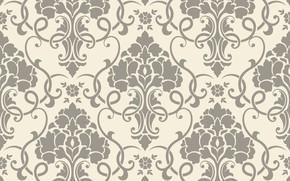 Обои seamless, винтаж, background, орнамент, текстура, узор, ретро, pattern