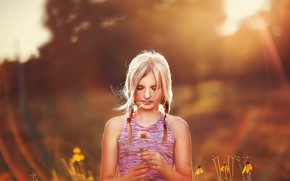 Картинка лето, свет, портрет, девочка