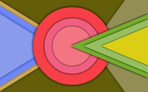 Обои обои, круг, треугольник