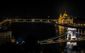 Картинка Hungary, Budapest, Danube River, Széchenyi Chain Bridg