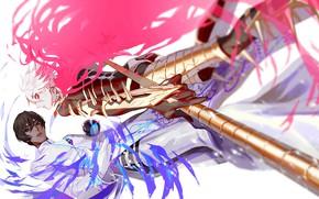 Картинка оружие, магия, шар, аниме, арт, парни, персонажи, Fate / Grand Order