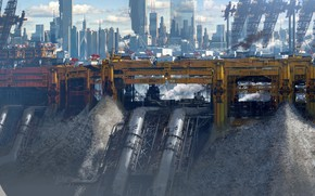 Картинка трубы, конструкция, сооружение, Ragequit test, Yellow city