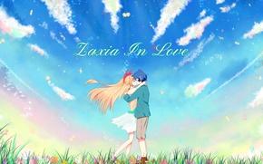 Картинка девушка, арт, пара, парень, двое, Nisekoi, Притворная любовь