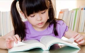 Картинка Girl, good, book, kid