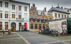 Обои Город, Улица, Бельгия, Архитектура, Street, Belgium, Town, Architecture, Антверпен, Antwerpen
