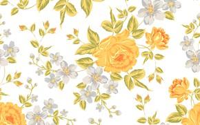 Картинка цветы, flowers, фон, розы, текстура, texture, roses, background