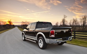 Картинка дорога, Dodge, пикап, 1500, Ram