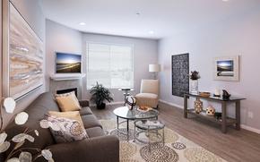 Картинка дизайн, дом, стол, комната, диван, картина, кресло, подушки, телевизор, Design, гостиная, декор, room, Interior, Living